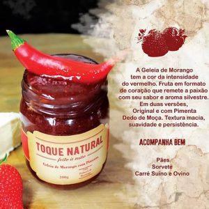 Geléia Morango com Pimenta Toque Natural