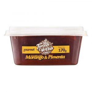 Geléia Gourmet Morango e Pimenta Forno Velho